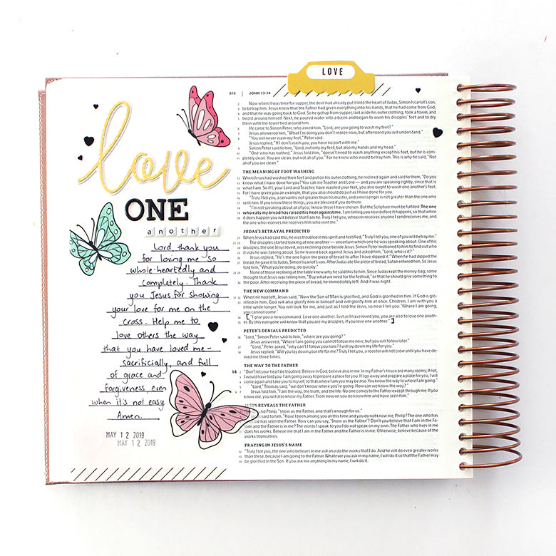 Bible Journaling with the Megan Kit | Mandy Melville