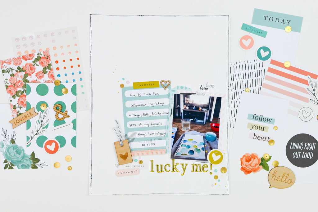 Lucky Me Scrapbook Layout | Suzanna Stein