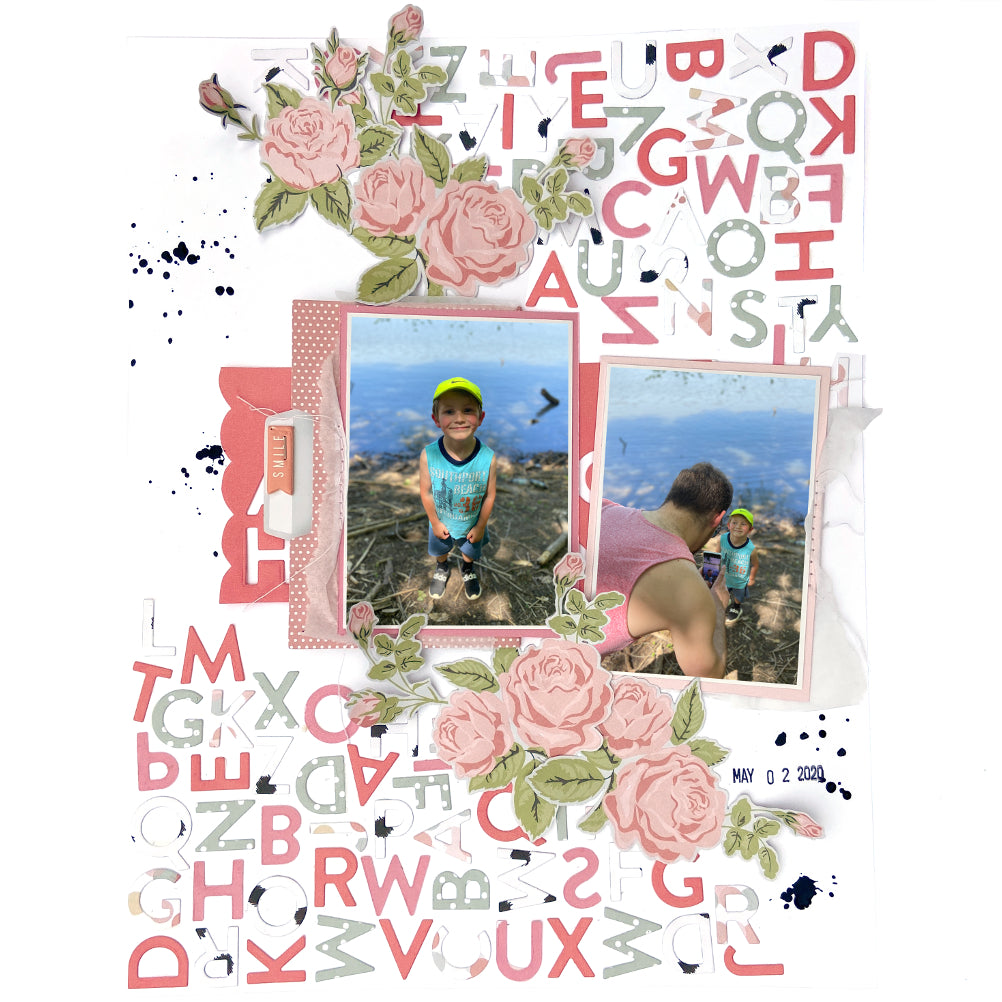Mix & Match │ Alpha Die-Cut Layout │ Lydia Cost