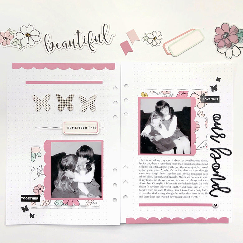 A Tribute to Sisterhood Binder Spread | Lynne Ashcraft