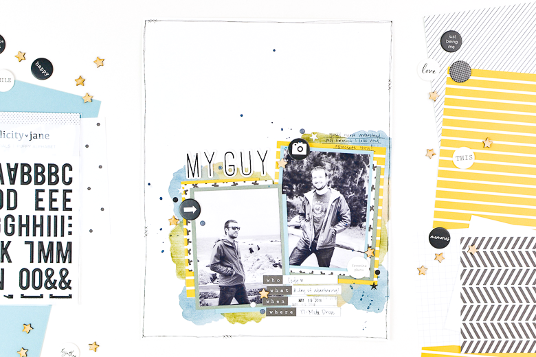 My Guy Scrapbook Layout | Suzanna Stein