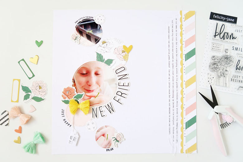 New Friend Layout + Process Video | Sheree Forcier