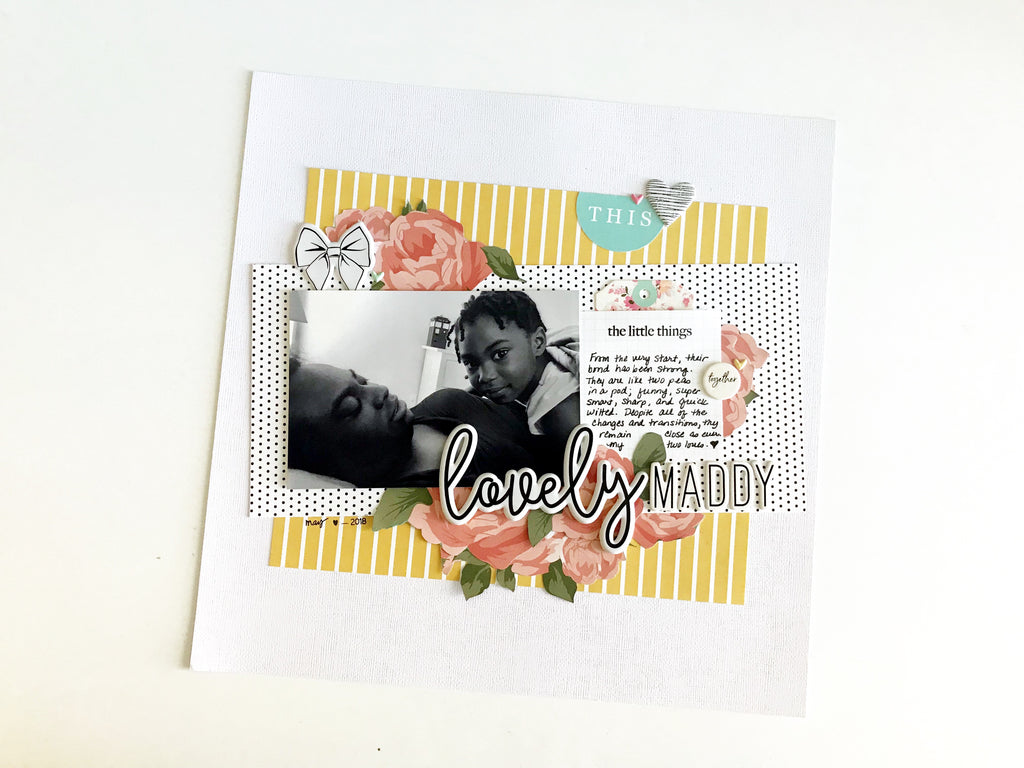Lovely Maddy Scrapbook Layout | Victoria Calvin