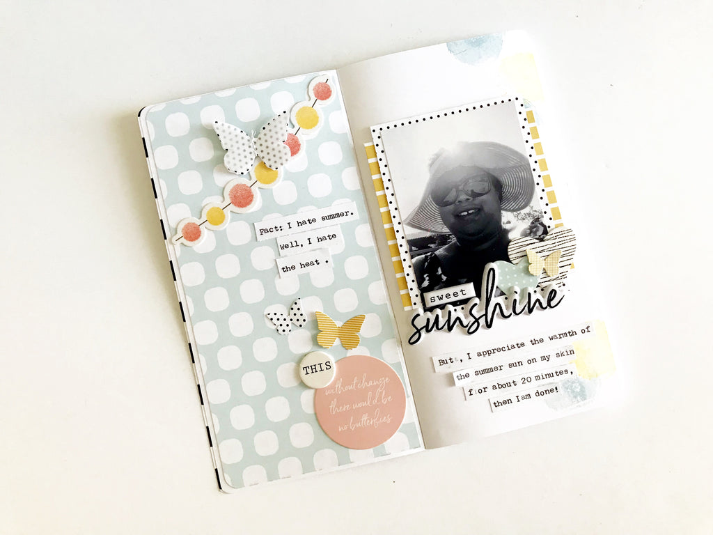 Sweet Sunshine - Traveler's Notebook Layout | Victoria Calvin