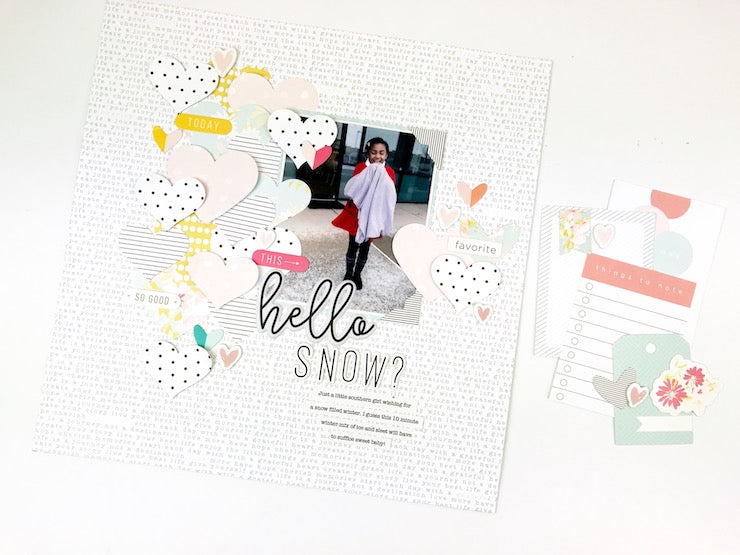Hello Snow Layout | Victoria Calvin