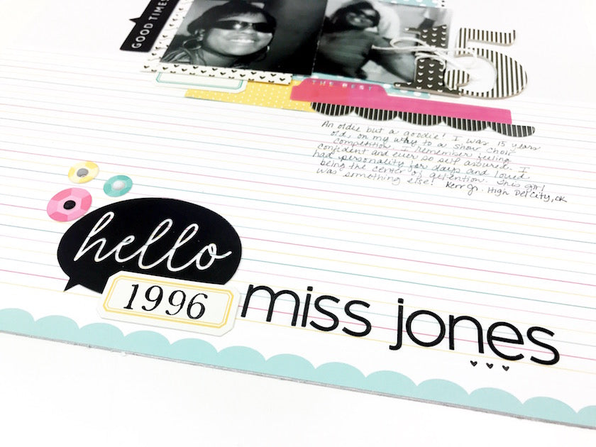 Hello Miss Jones Layout | Victoria Calvin