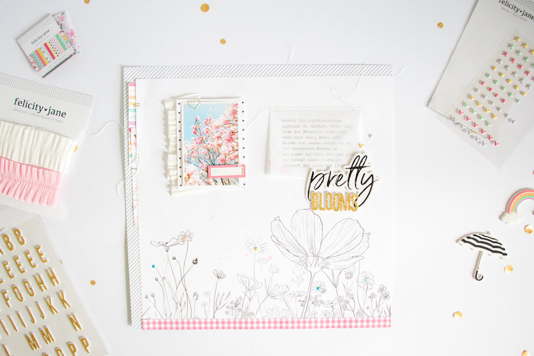 Pretty Blooms Layout Inspiration | Kathleen Graumüller