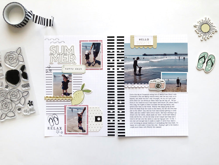 Summer A5 Layout | Sarah Zayas