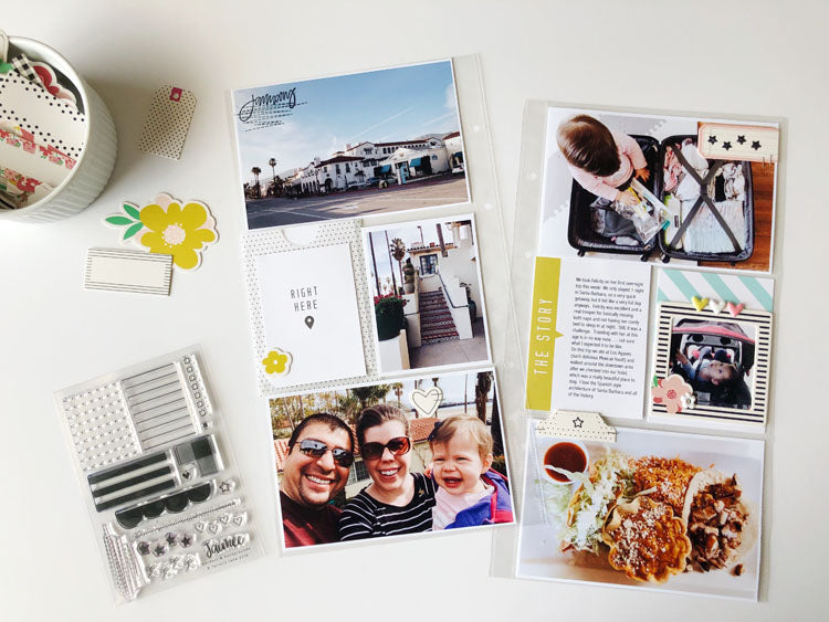 6x12 Pocket Page Layout Using Jaimee Kit | Sarah Zayas