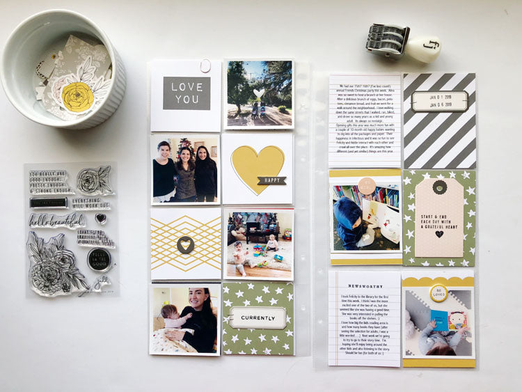 1st Week in 2019 Layout Using the Jill Kit | Sarah Zayas