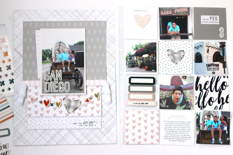 San Diego Layout + Pocket Page | Nancy Damiano