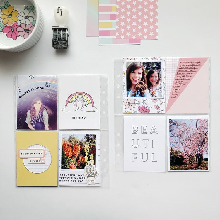 Change is Good 6x8 Pocket Page Layout | Sarah Zayas