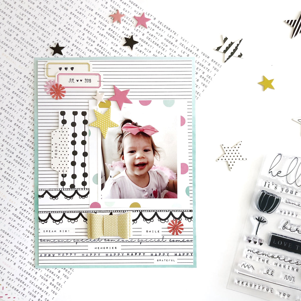 Celebrate Today 6x8 Layout | Sarah Zayas