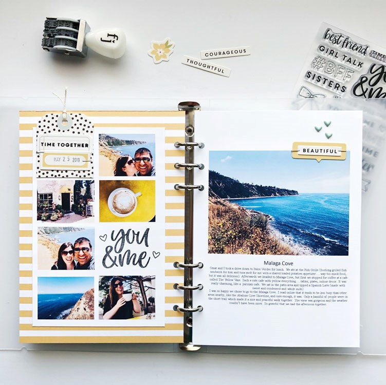 A5 Summer Album Layout | Sarah Zayas