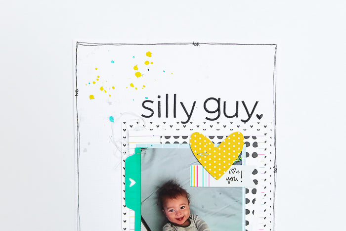 Silly Guy Scrapbook Layout | Suzanna Stein