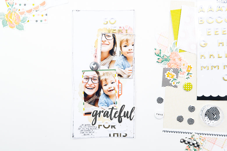 So Grateful Scrapbook Layout | Suzanna Stein