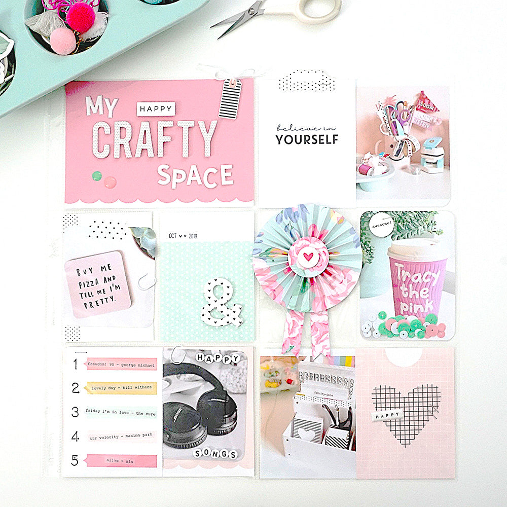 """My Crafty Space"" Pocket Page 