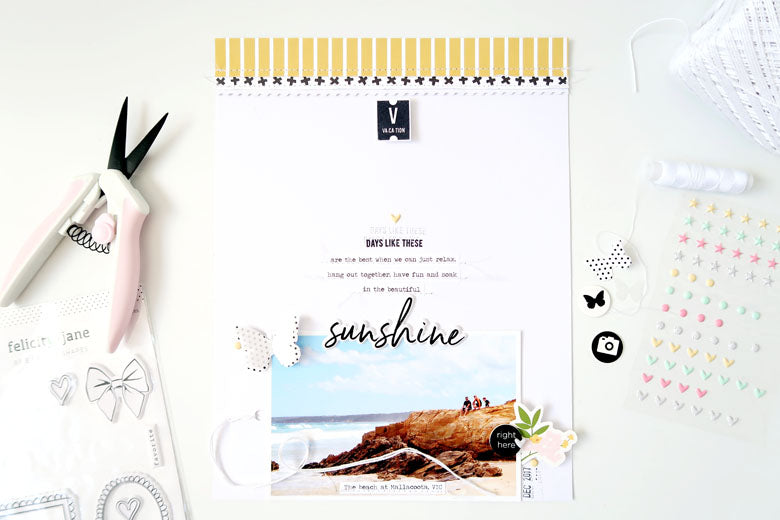 Sunshine Layout + Process Video | Sheree Forcier
