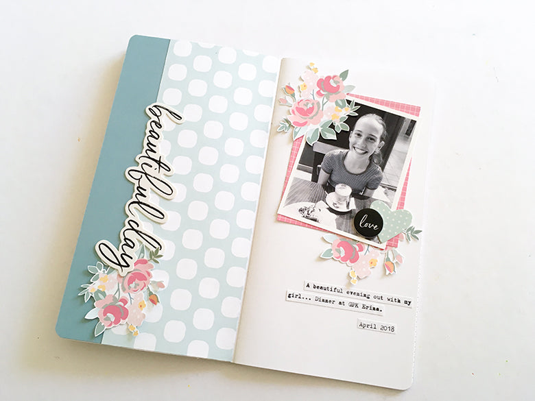 'Beautiful Day TN Layout using the Brie Kit | Mandy Melville