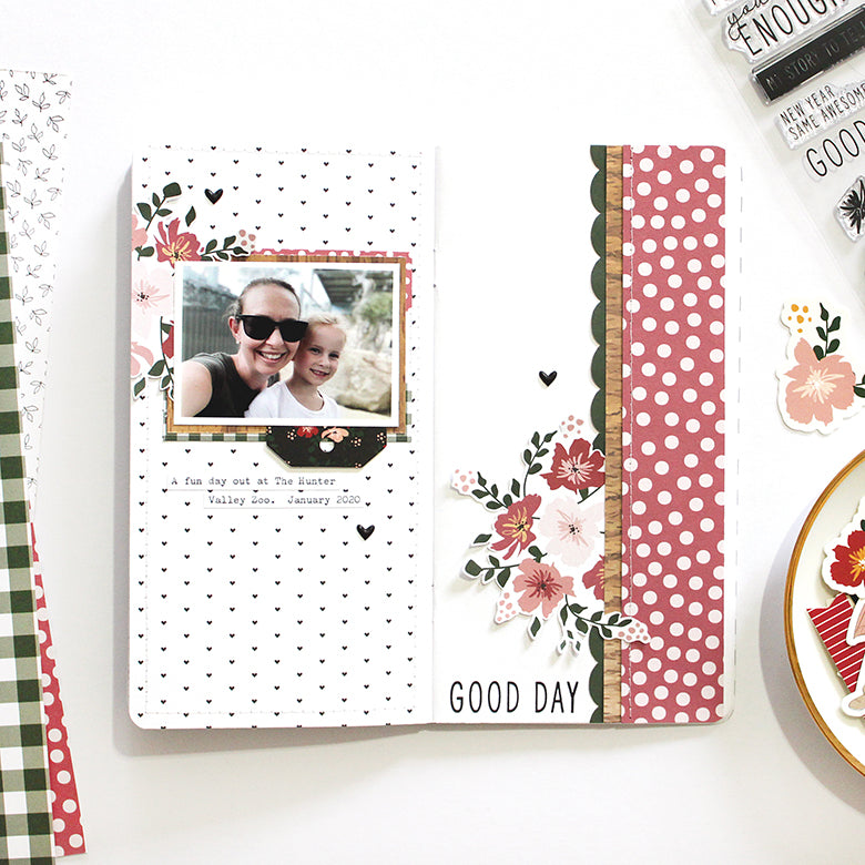 'Good Day' Traveler's Notebook Layout | Mandy Melville