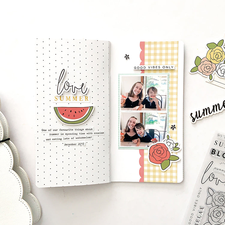 'Love Summer' TN Layout with the Elizabeth Kit | Mandy Melville