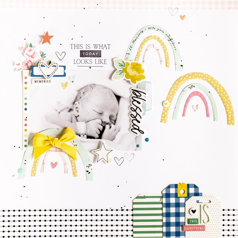 Baby Layout with Rainbows | Ulrike Dold