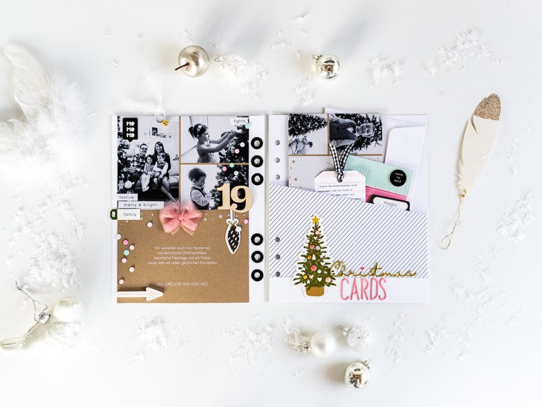 December Album Pages with Cardstock Dividers | Ulrike Dold