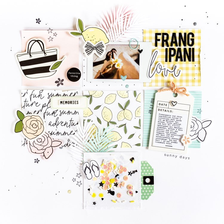 Frangipani Love Grid Layout with Shaker Pocket | Ulrike Dold
