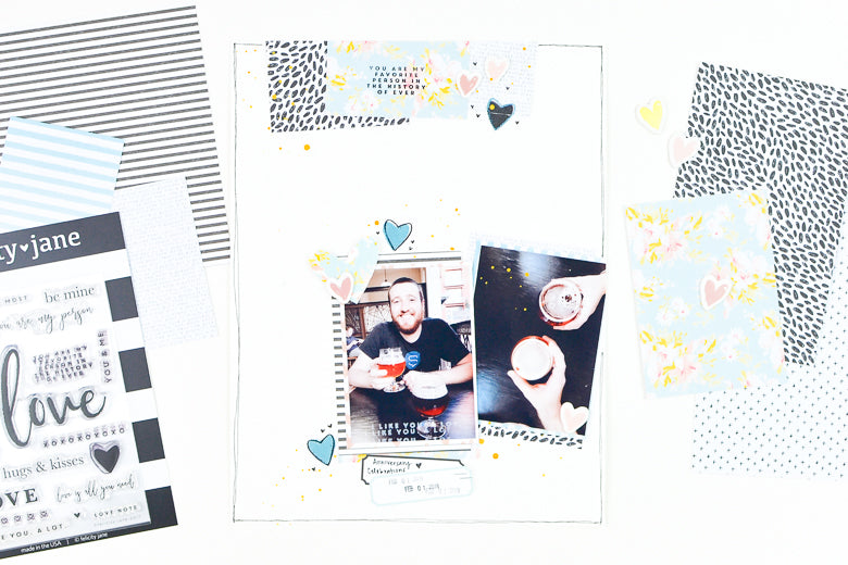 You are My Favorite Person Scrapbook Layout | Suzanna Stein
