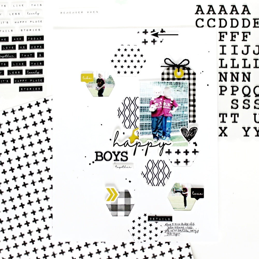 Happy Boys Layout | Jana Bennett