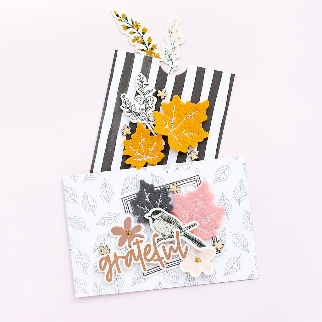 Elegant Fall Card Pockets | Sandra Dietrich