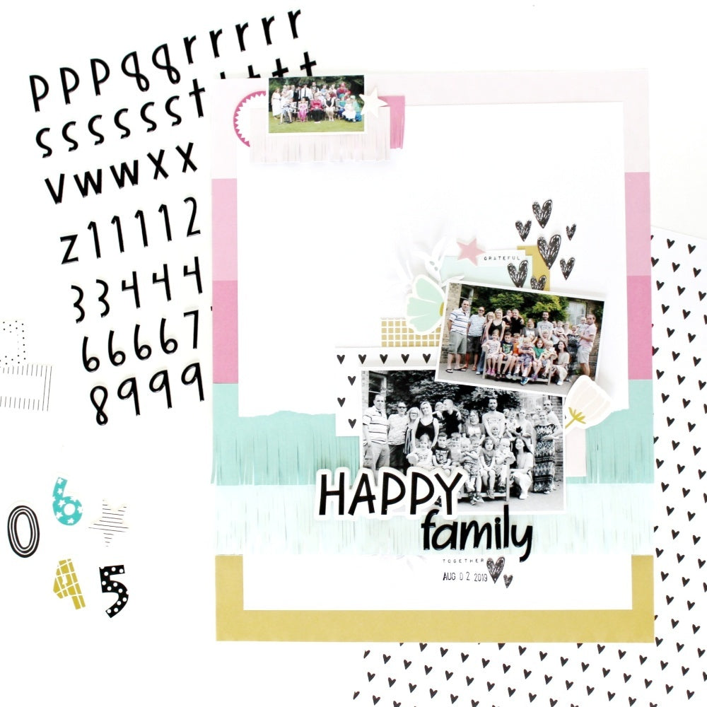 Happy Family Layout | Jana Bennett