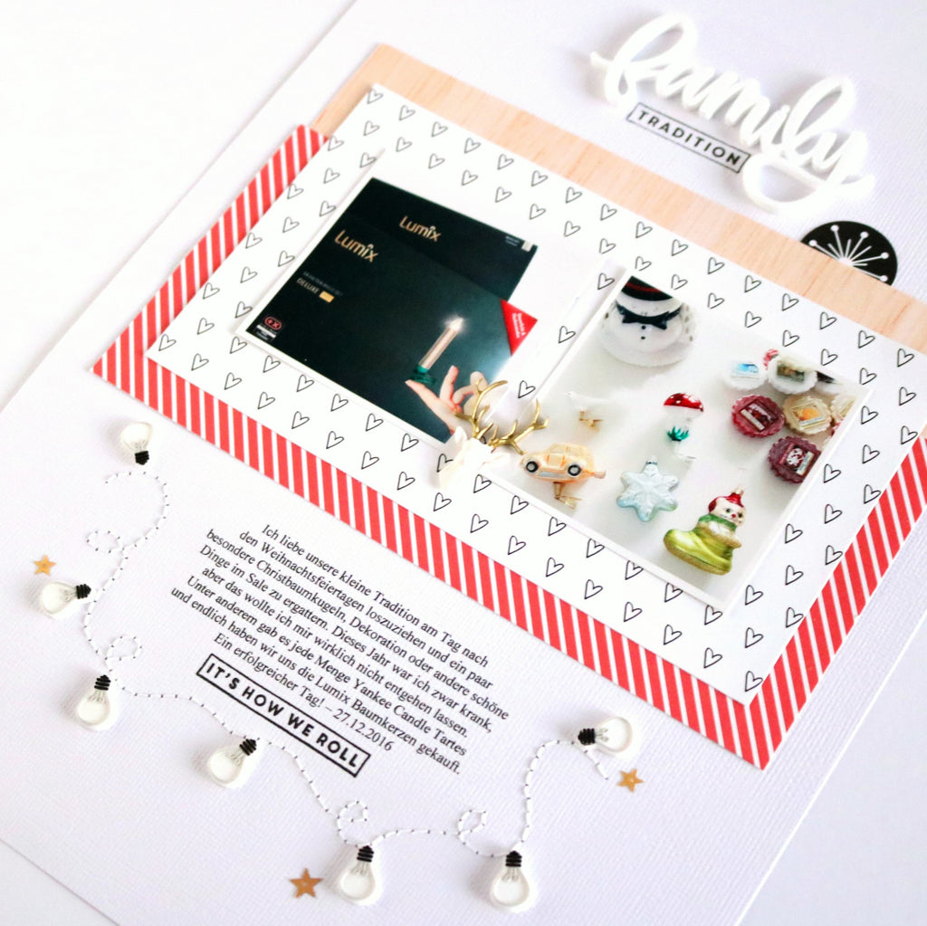 Christbaumkugeln Besondere.Family Tradition Layout Evelyn Wolff Felicity Jane