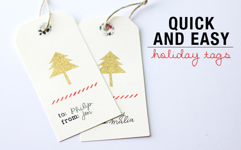 Easy Holiday Tags | Jen Schow