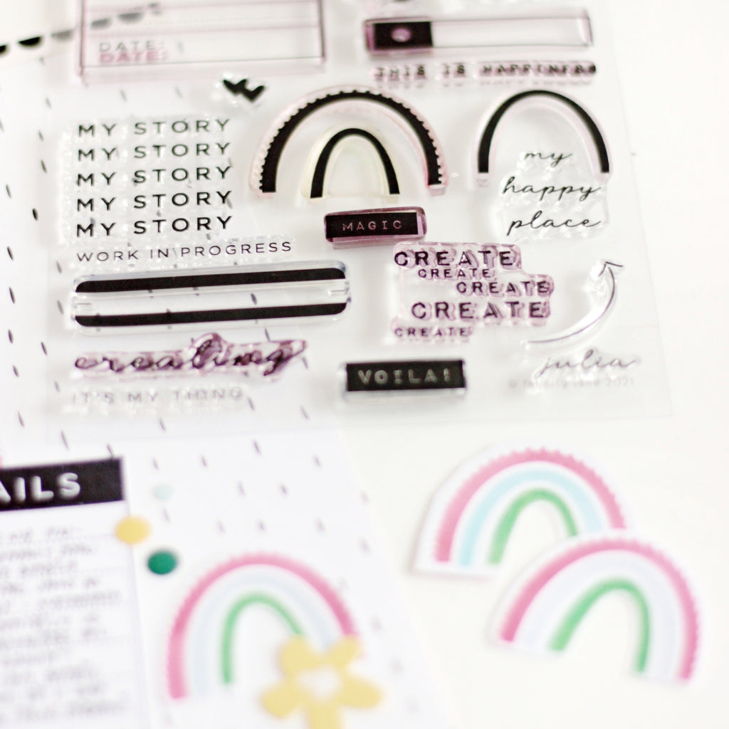Rainbow Layout | Jana Bennett