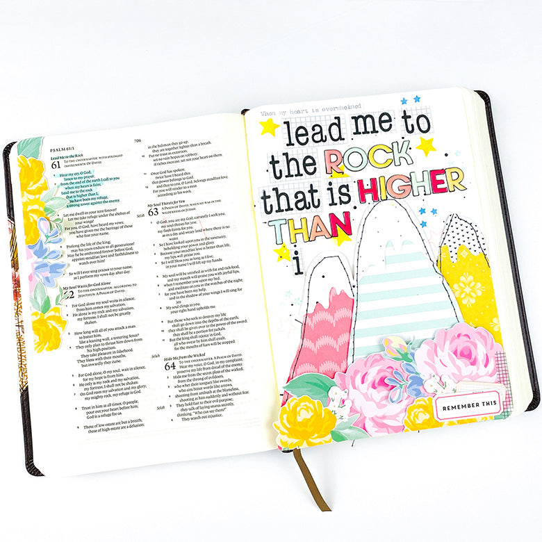 Bible Journaling | Lead Me To The Rock | Lindsey Lanning