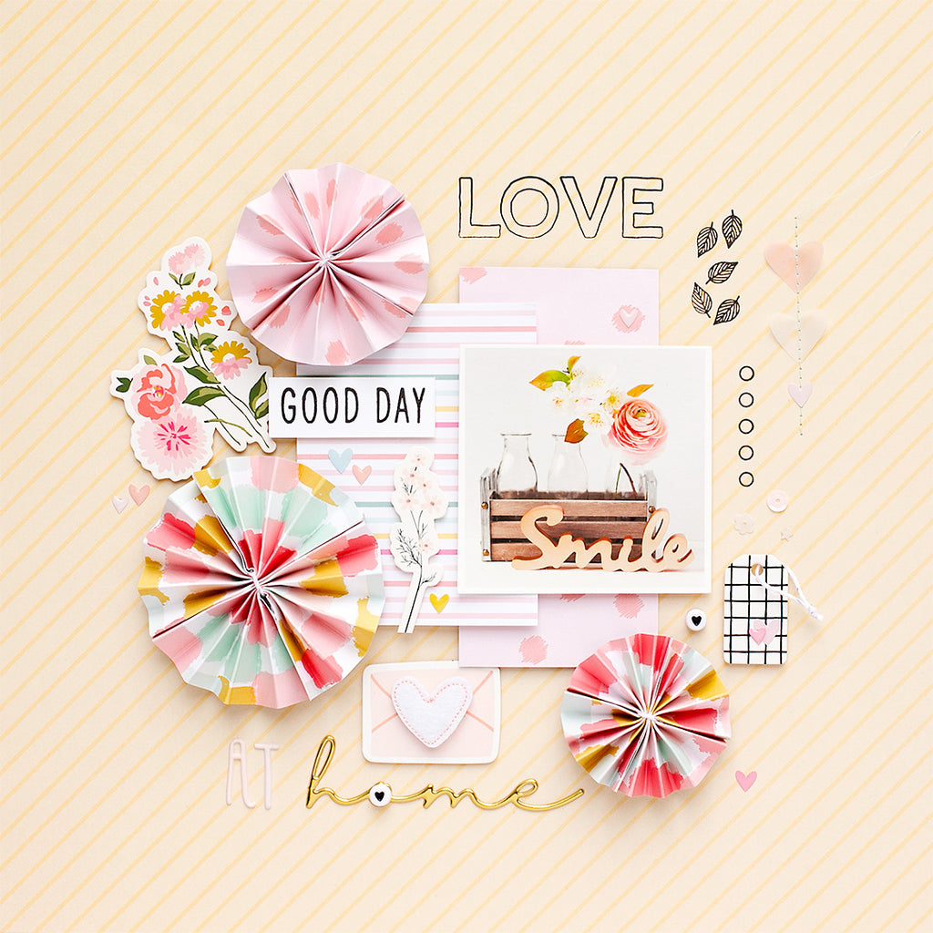 'Flower Love' Scrapbook Layout | Sandra Dietrich