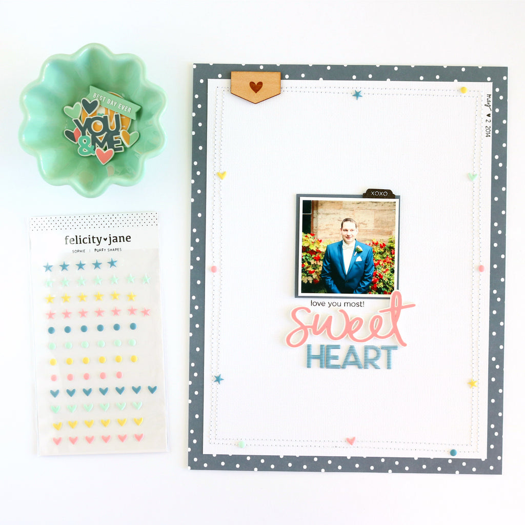 Sweetheart Layout | Evelyn Wolff