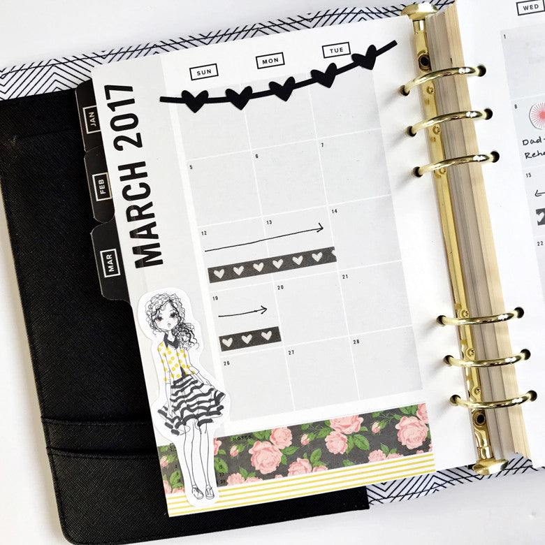 March Monthly Planner Spread by Anita Patel | @FelicityJane