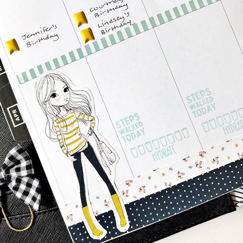 April Planner Spread by Anita Patel | @FelicityJane