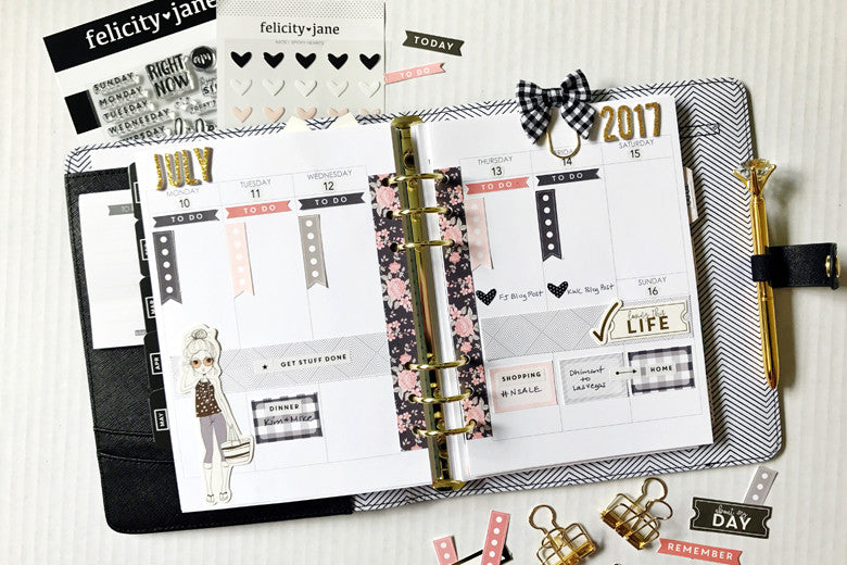 July Weekly Planner Spread by Anita Patel | @FelicityJane