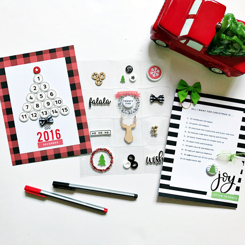 December Album Foundation Pages by Anita Patel | @FelicityJane