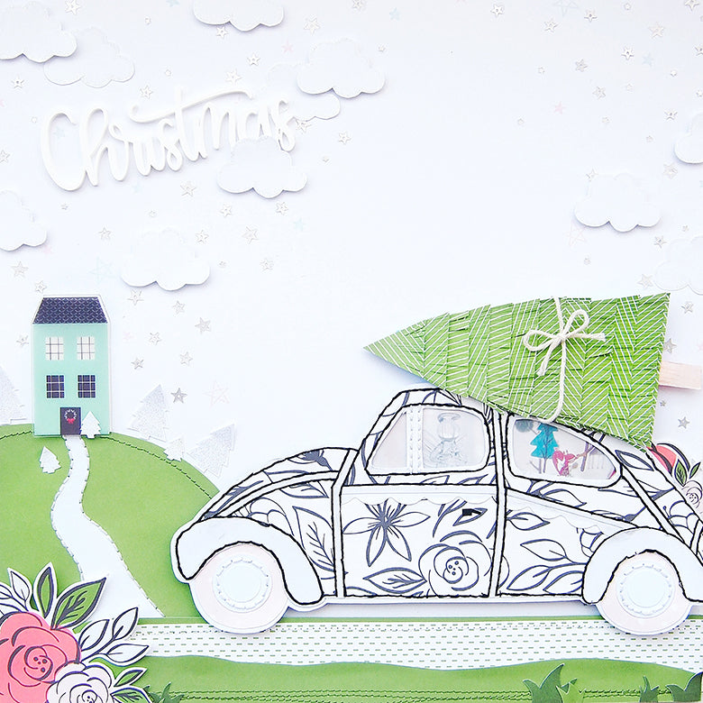'Driving Home for Christmas' Layout by Elsie Robinson | @FelicityJane