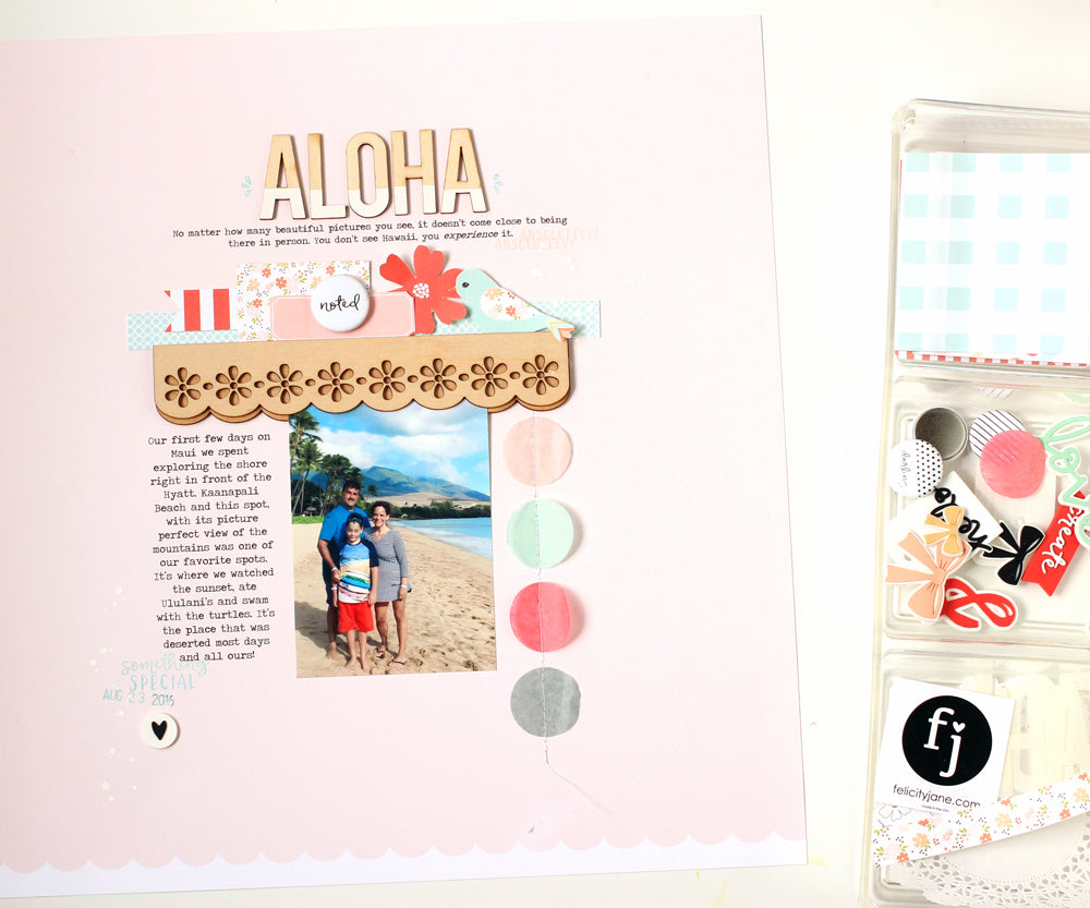 Aloha Layout by Nancy Damiano | @felicityjane