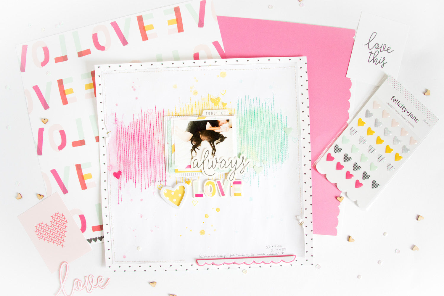 Always Love Layout with the Lindsey Kit 2 | Kathleen Graumüller | Felicity Jane