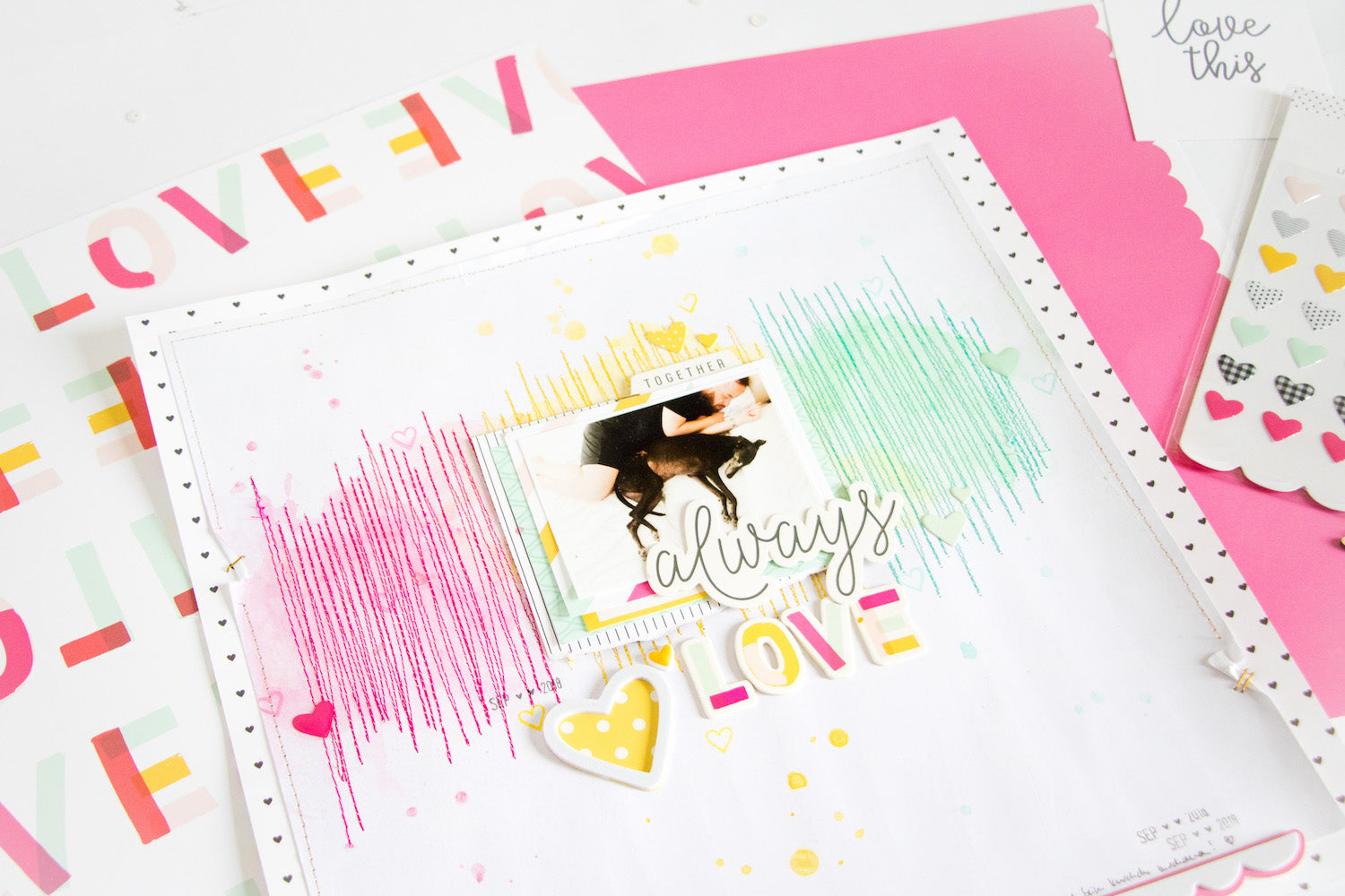 Always Love Layout with the Lindsey Kit 3| Kathleen Graumüller | Felicity Jane