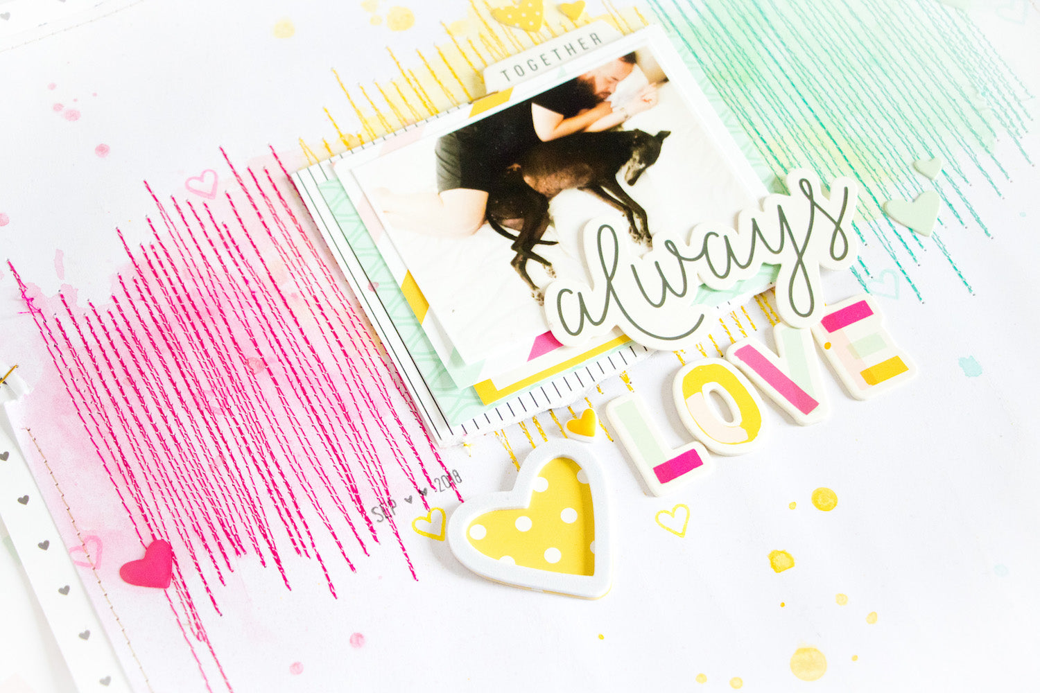 Always Love Layout with the Lindsey Kit 4 | Kathleen Graumüller | Felicity Jane