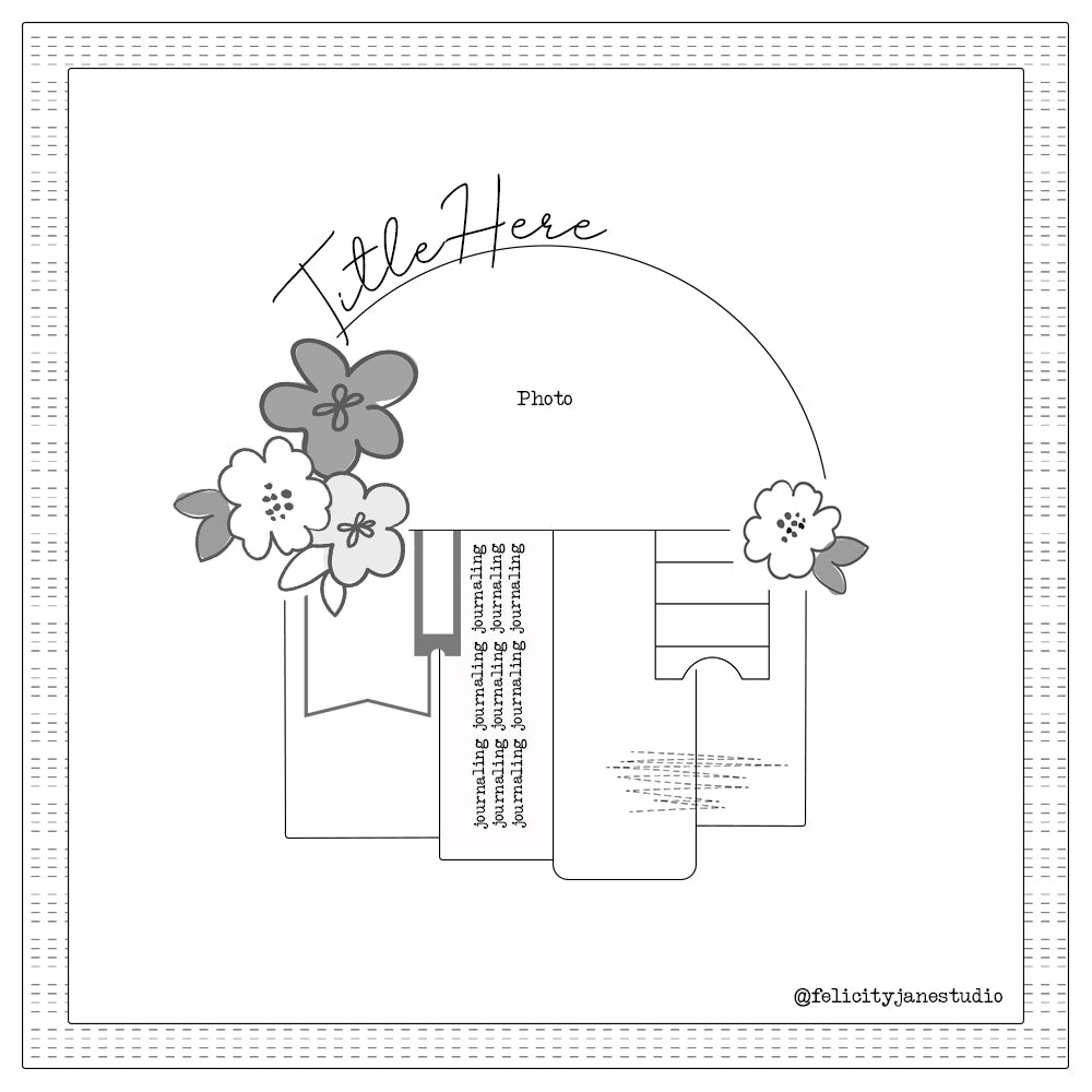 Sketch by Sheree Forcier for Felicity Jane