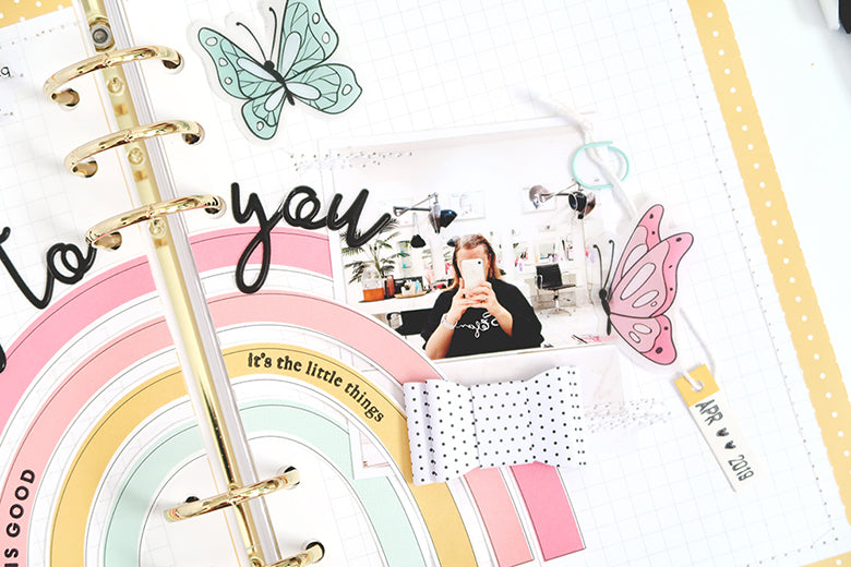 Note to Self Binder Spread by Sheree Forcier for Felicity Jane