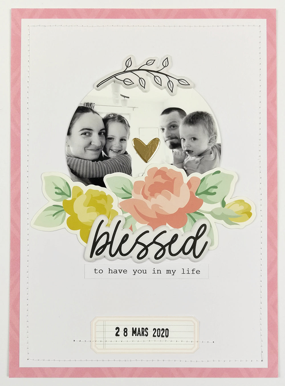 Scrapbook Layout by Guest Designer Camille Bole for Felicity Jane